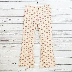 Alice + Olivia embroidered pants nwt